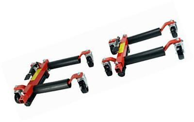 "(2)  12"" hydraulic wheel dolly vehicle positioning jack lift hoist with 1500 lb"