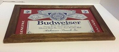 Budweiser King of Beers Bar Barware Sign Mirror Man Cave Made in the USA