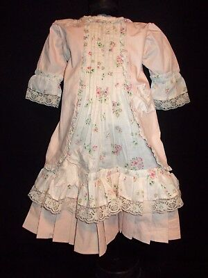 Dress for antique dolls 55-70 cm (21-27 inches). Length 46 cm (18 inches)