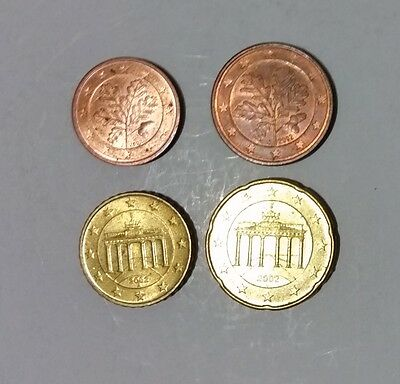 Germany Euro Cents 4 coins see photos