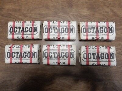 Octagon Bar Soap (With Coupons) Set of Six, Antique