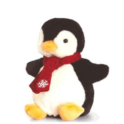 Keel Toys Penguin with Festive Scarf 20cm - Plush Soft Toy Baby /Toddler