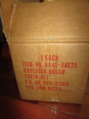 HO Scale Anheuser Busch Old Timer Train Set by Bachamnn OLD STOCK NEW IN BOX