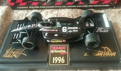 1996 Michael Andretti Racing Car Diecast  Bank - 1:24 Scale -Texaco Havoline