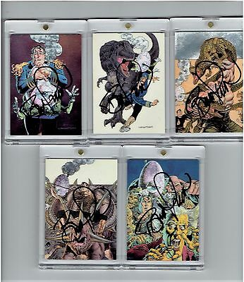 Bernie Wrightson Signed Autograph Metallic Storm Chase Cards Set