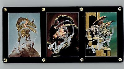 Bernie Wrightson Series Two More Macabre Signed Autograph Cards in Display