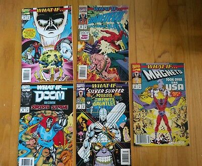 Lot of 5 Marvel Comic What if. . . #47-49, 52-53