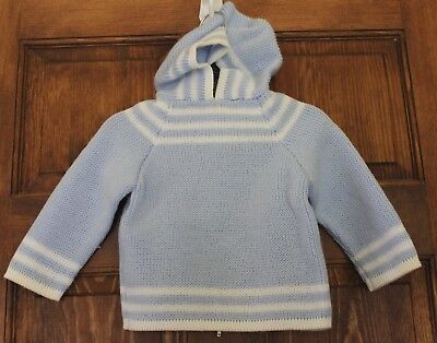 VGUC Early 1980's Vintage Blue Baby Sweater RN Custom Made in Portugal