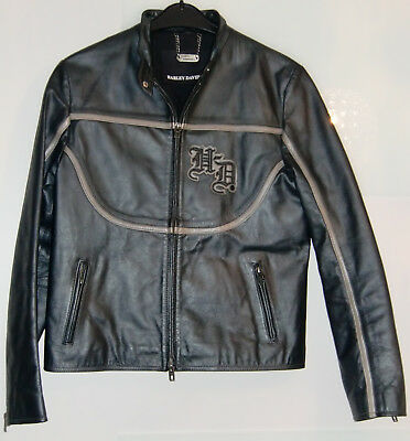 orig 110th harley davidson motorrad lederjacke jacke. Black Bedroom Furniture Sets. Home Design Ideas
