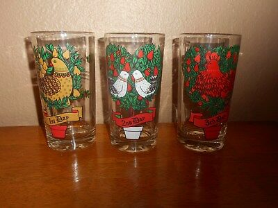 Twelve Days of Christmas Replacement Glasses 1st 2nd 3rd etc.