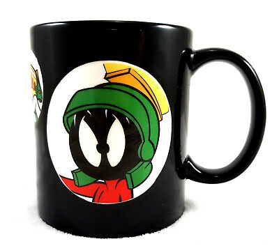 Warner Bros Studio Marvin The Martian Space Ship Windows 1997 Embossed Mug Cup