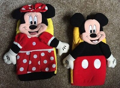 Official Disney World Minnie Mickey Mouse Stove Oven Mitt Glove Set 3D BNWOT