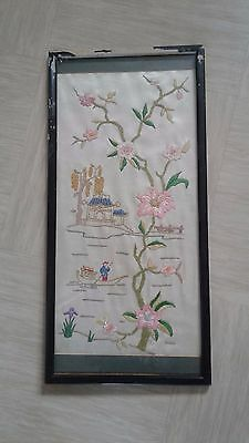 antique chinese embroidery 50cms long with beads and gold thread