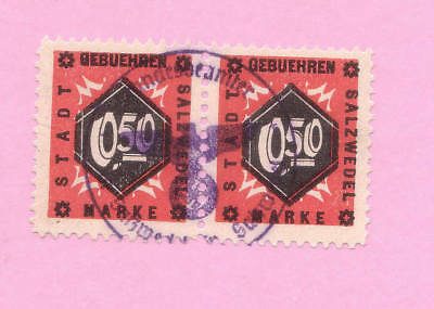 s278 | Pair of Third Reich (revenues?) from Salzwedel, used, perfect