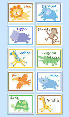 Safari Nursery Prints Wall Art Decor Neutral Baby Jungle Animals Girl Boy Gift