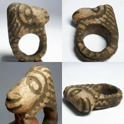 Indus Valley Old wonderful Ring With Animal Head # C