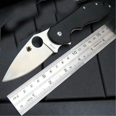 New C172 Black Spyderco Pocket Knife Camping Folding Knife Self Defense $149