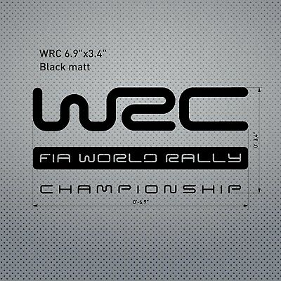 WRC FIA World Rally Championship Decal Sticker Aufkelber Pegatina Autocollant