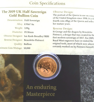 Gold 2009 UK Half-Sovereign