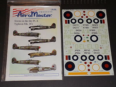 Aeromaster Decals 48436 1/48 Storms in the Sky Pt.X - Typhoon Mk.1b's