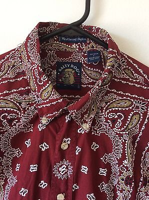 Mens Vintage 80's Shirt Sz L/ XL GANT Salty Dog Paisley Mod Retro Disco