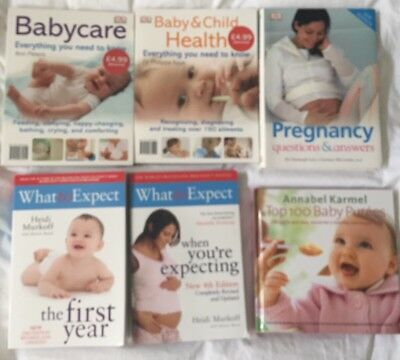 Various Pregnancy / Baby Books - Annabel Karmel, What To Expect...x 6