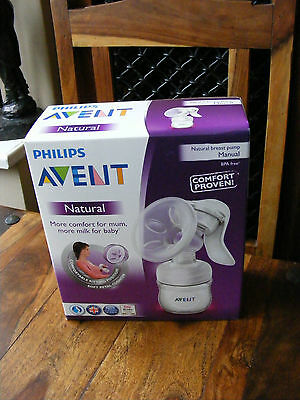Brand New in Box PHILIPS Avent Natural Manual Breast Pump with Bottle SCF330/20