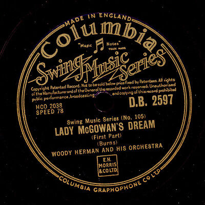 WOODY HERMAN & HIS ORCHESTRA  Lady McGowan's Dream (1&2)  Schellackplatte  X1740