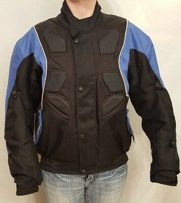 Water Proof Motorcycle Riding Jacket With Removable Liner Mens Small