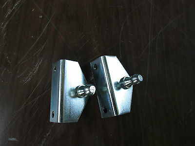 2  Brackets For Gas Support Strut Shock 2 Bolt   2 Brackets 10Mm Ball Overstock