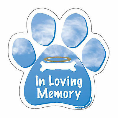In Loving Memory Dog Paw Car Magnet