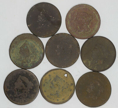 8 Cull Large Cent Lot