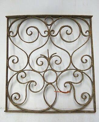 Antique Egyptian Architectural Wrought Iron Panel Grate (056)