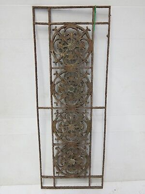 Antique Egyptian Architectural Wrought Iron Panel Grate (059)