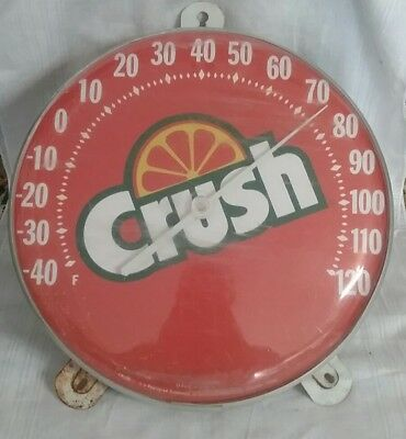 """Vintage ORANGE CRUSH Thermometer / Sign advertising and  12"""""""