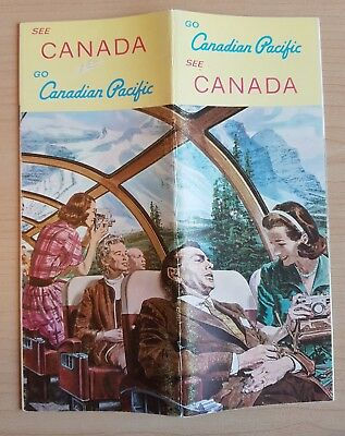 1966 Canadian Pacific Railway SEE CANADA GO CANADIAN PACIFIC Brochure
