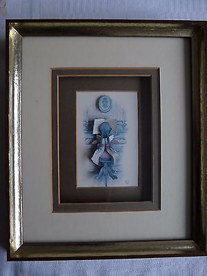 "Framed picture(decoupage/3D) by Anton Peck ""The Piano Player"""