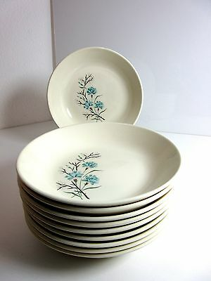 """10 Vintage Harmony House BUTTONS & BEAUX 6 5/8"""" CEREAL BOWLS Coupe Soup"""