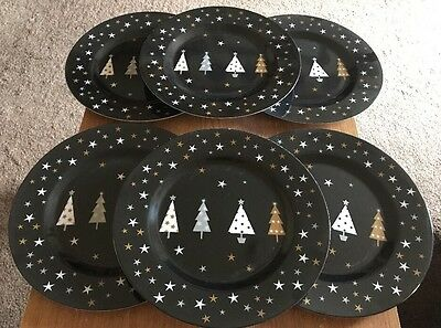 CHRISTMAS PLATES - Set Of 6