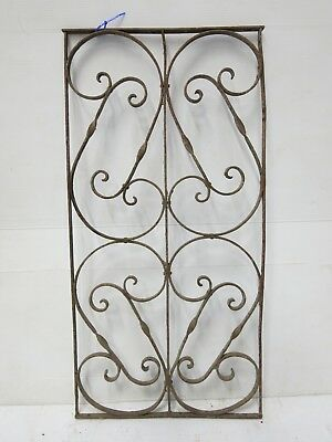 Antique Egyptian Architectural Wrought Iron Panel Grate (089)