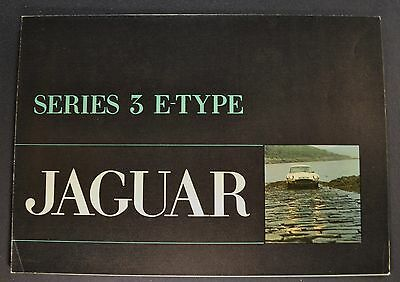 1971 Jaguar E-Type Series 3 Brochure Folder 4 Language Text Excellent Original