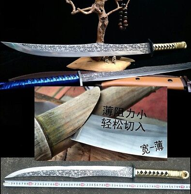 Outdoor Sword Camping knife Hand Forged High speed steel sharp blade #010
