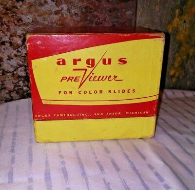 VINTAGE ~ Argus Previewer ~ for Color Slides ~ Includes the ORIGINAL BOX