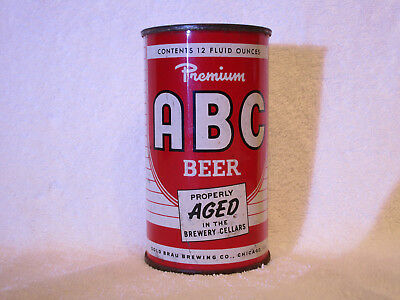 ABC Premium Beer flat-top can, Gold Brau Brewing Co., Chicago, IL.