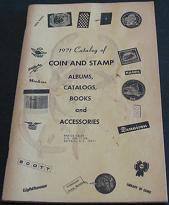 1971 Catalog Of Coin & Stamp Albums, Catalogs, Books & Accessories M. Fagin