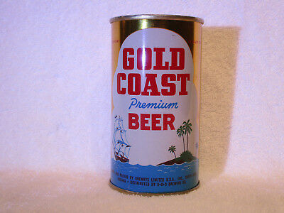 Gold Coast Premium Beer flat-top can, Drewrys Ltd., South Bend, IN