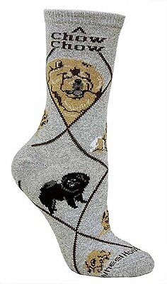 Chow Chow Dog Breed Gray Lightweight Stretch Cotton Adult Socks