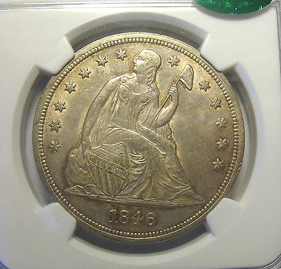 1846 Seated Liberty Dollar AU55 NGC CAC