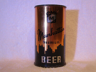 Manhattan Premium Beer O-I flat-top can, Manhattan Brewing Co., Chicago, IL