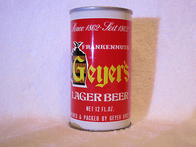 Geyer's Lager pull-tab can, Geyer Bros. Brewing Co, Frankenmuth, MI *AIR-SEALED*